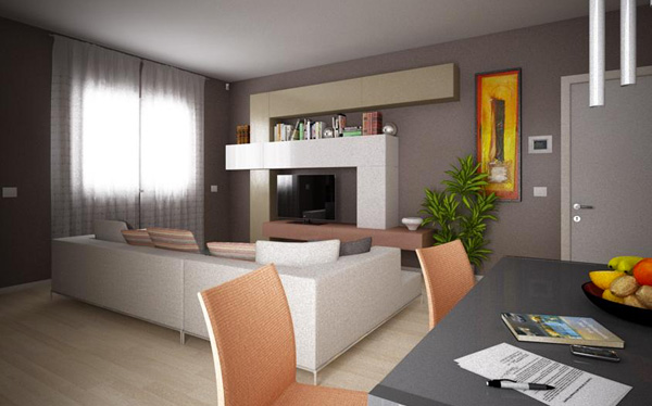 Smart living room with AVE home automation