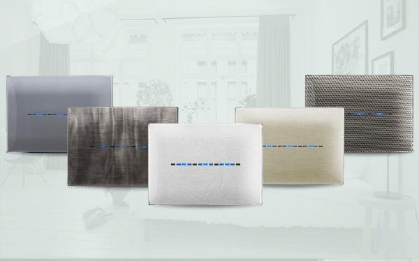 Nuova gamma di placche Young Touch: il design incontra la domotica