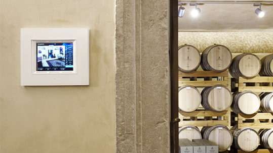 AVE home automation in Villa Rinaldi winery