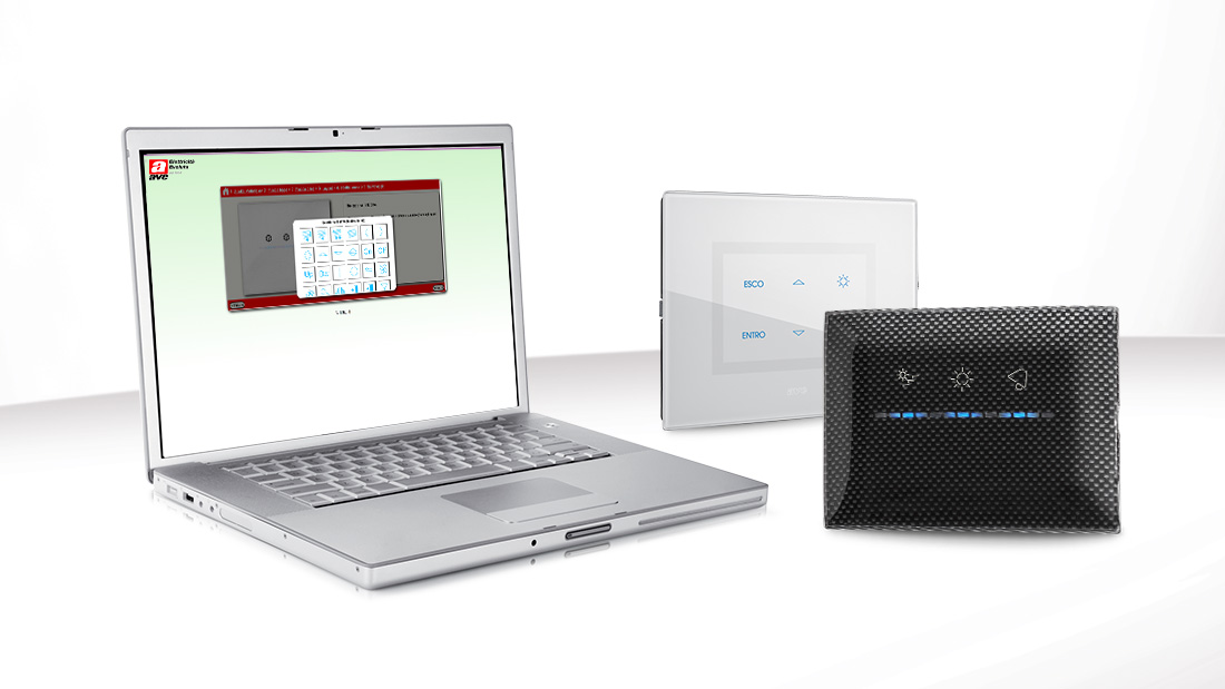 Configuratore Placche la domotica di Ave la puoi personalizzare online
