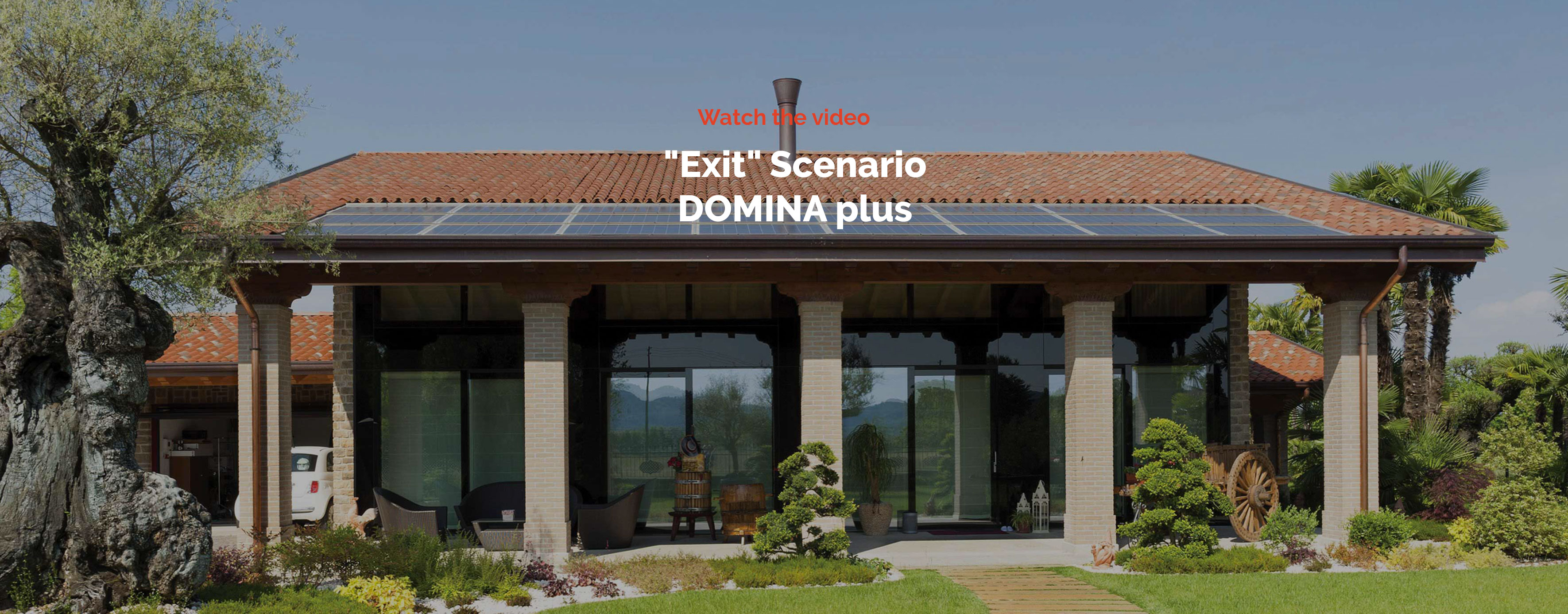 "Home automation AVE DOMINA plus – Domotic Scenario ""Output"" video"