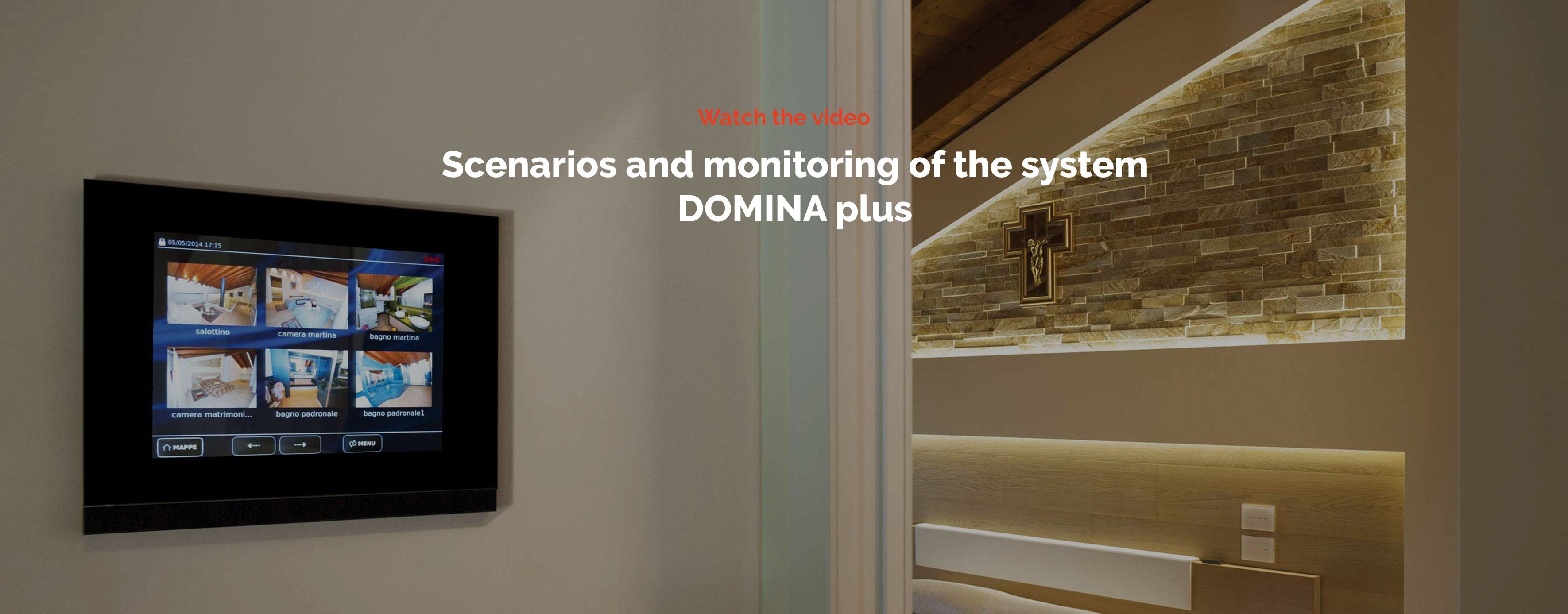 Home automation AVE DOMINA plus - Scenarios and supervision of the system video