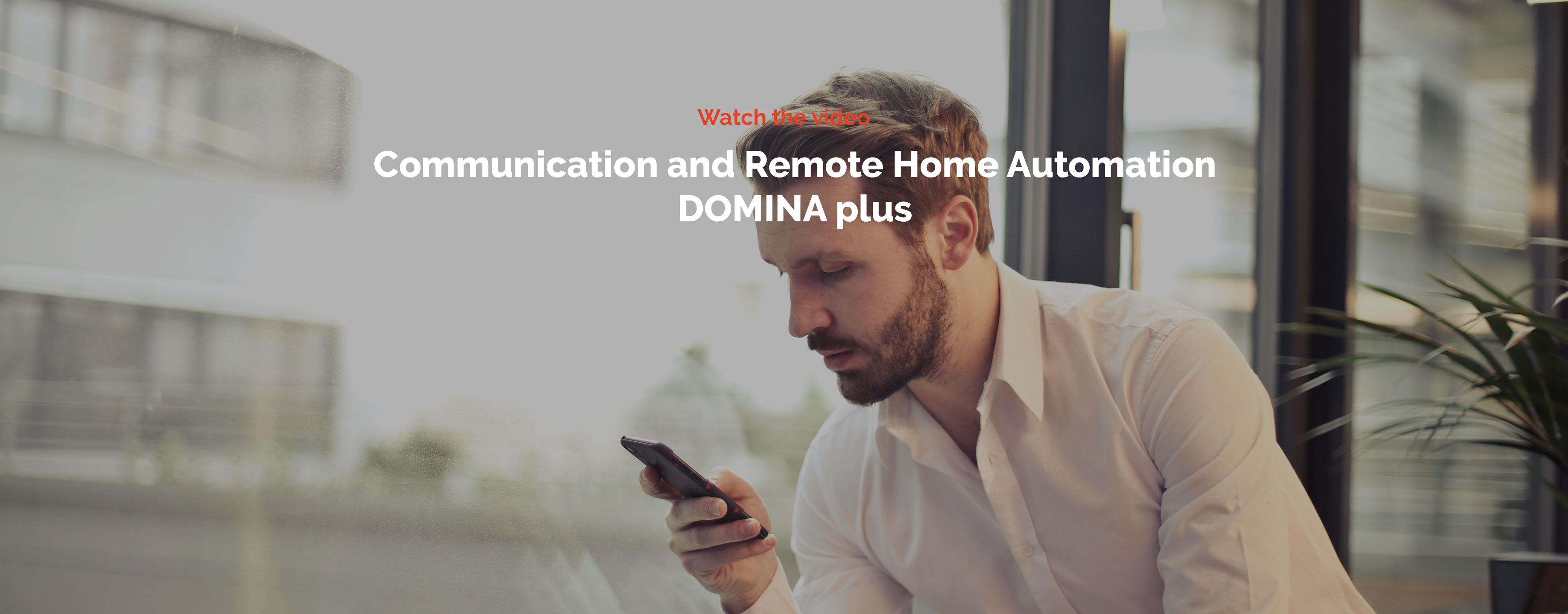 Home automation AVE DOMINA plus - Communication and remote home automation video