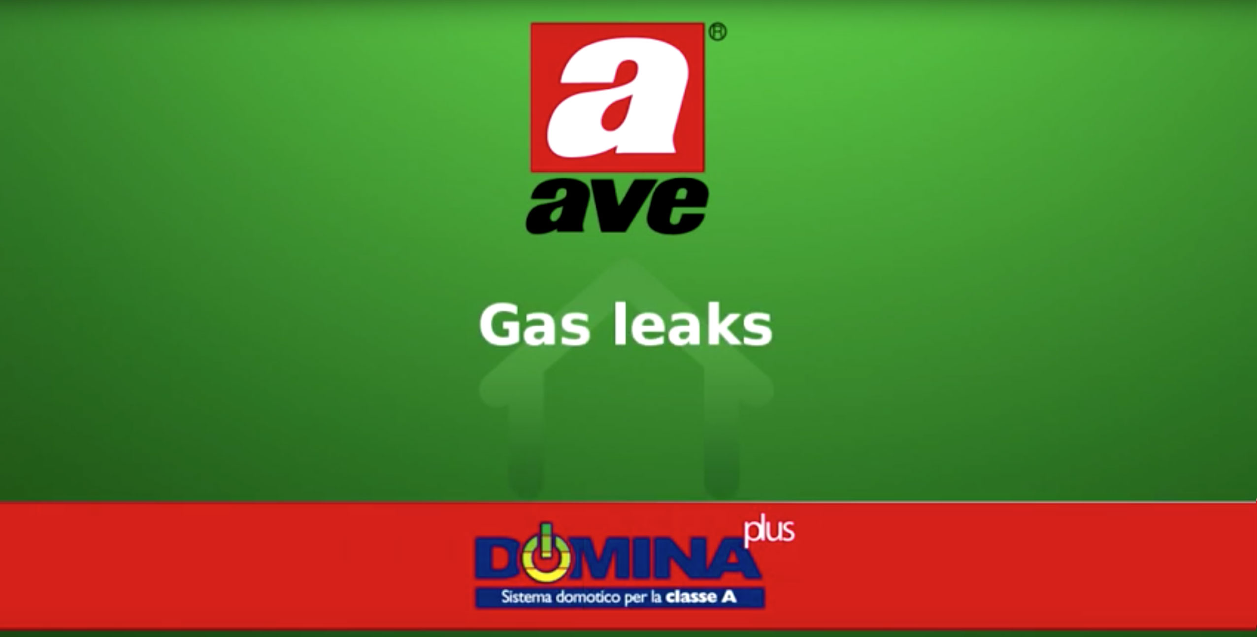 Home automation AVE DOMINA plus – Gas leaks video