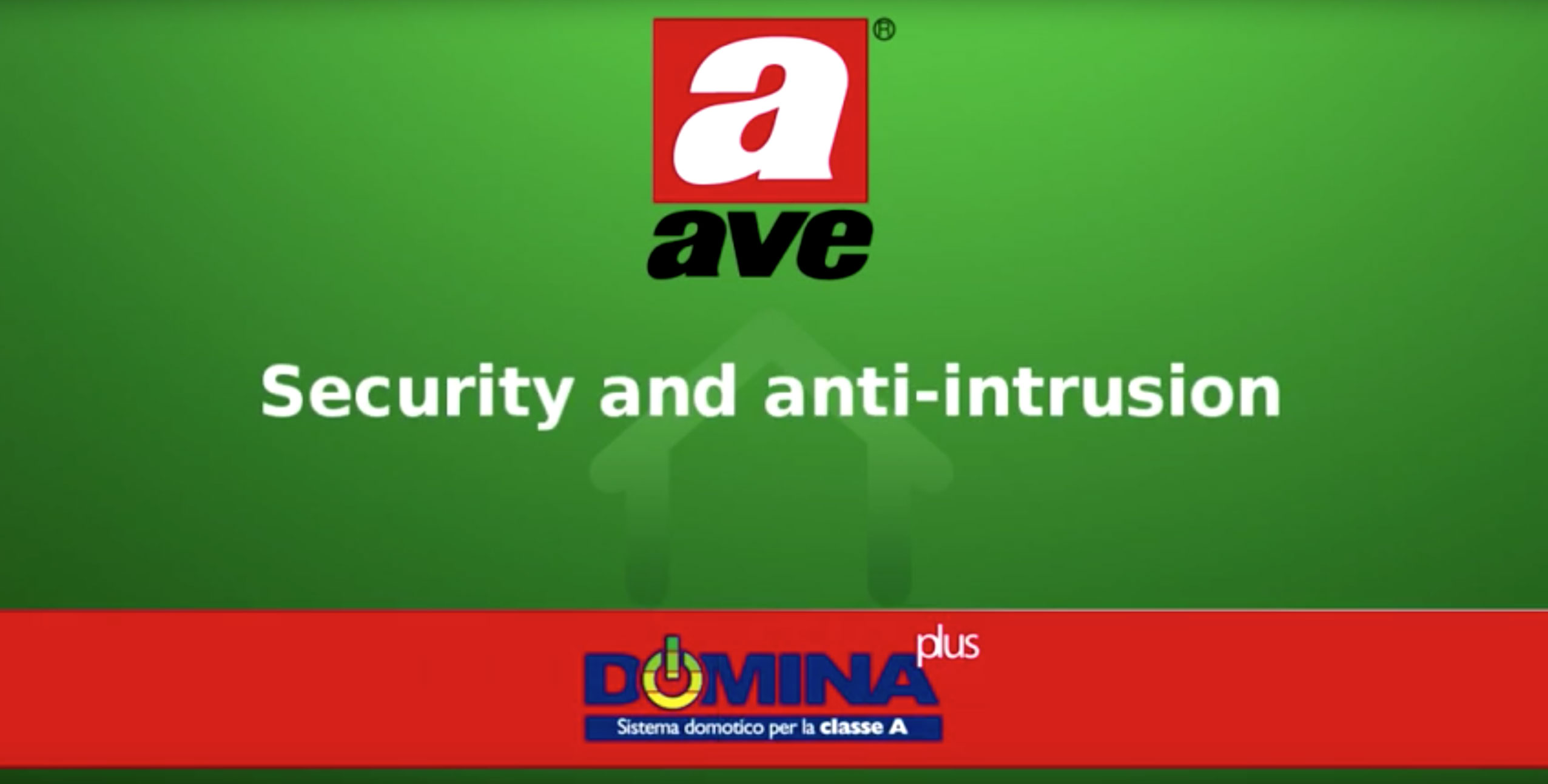 Home automation AVE DOMINA plus – Security and anti-intrusion video