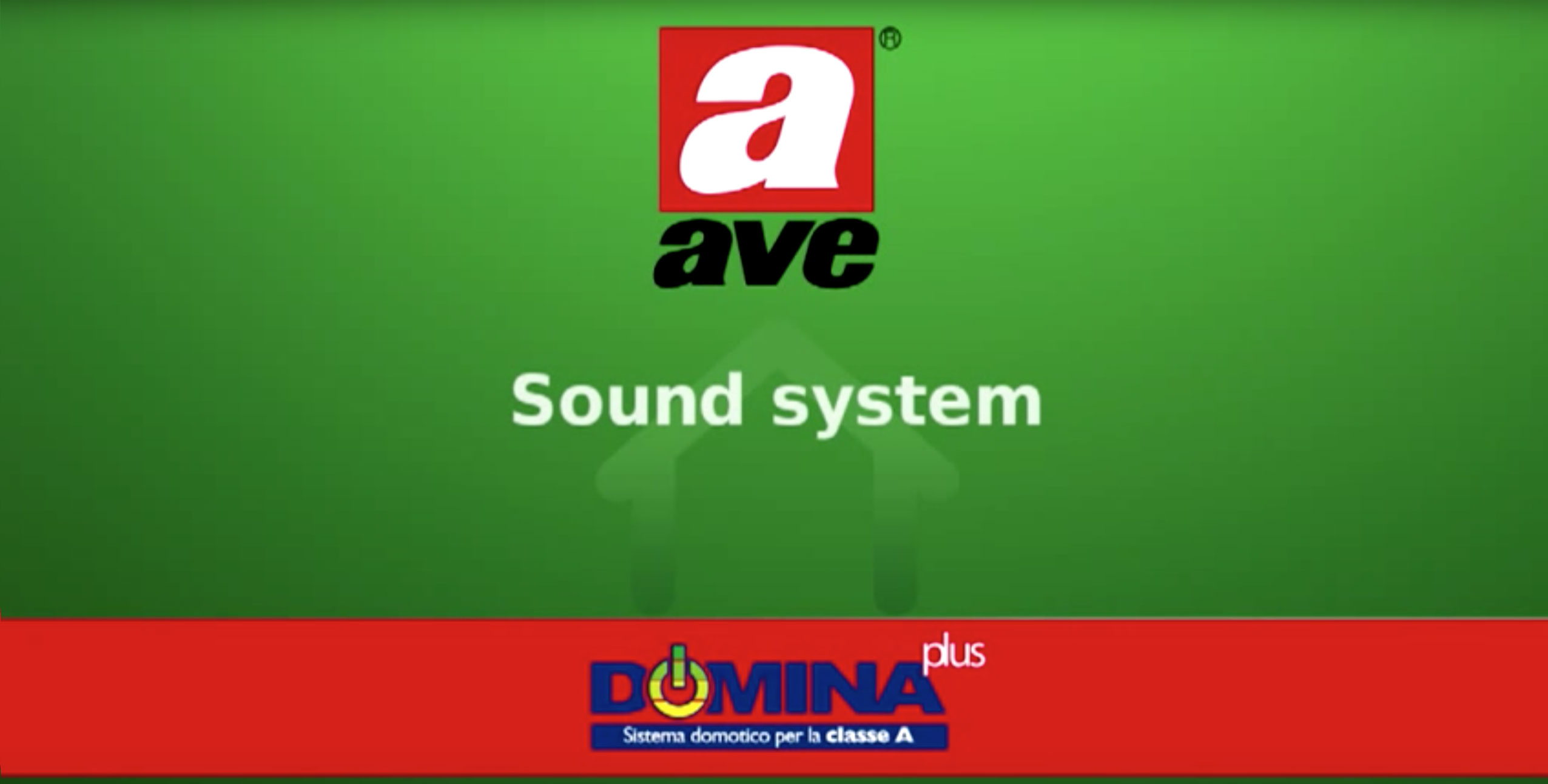 Home automation AVE DOMINA plus – Sound System video