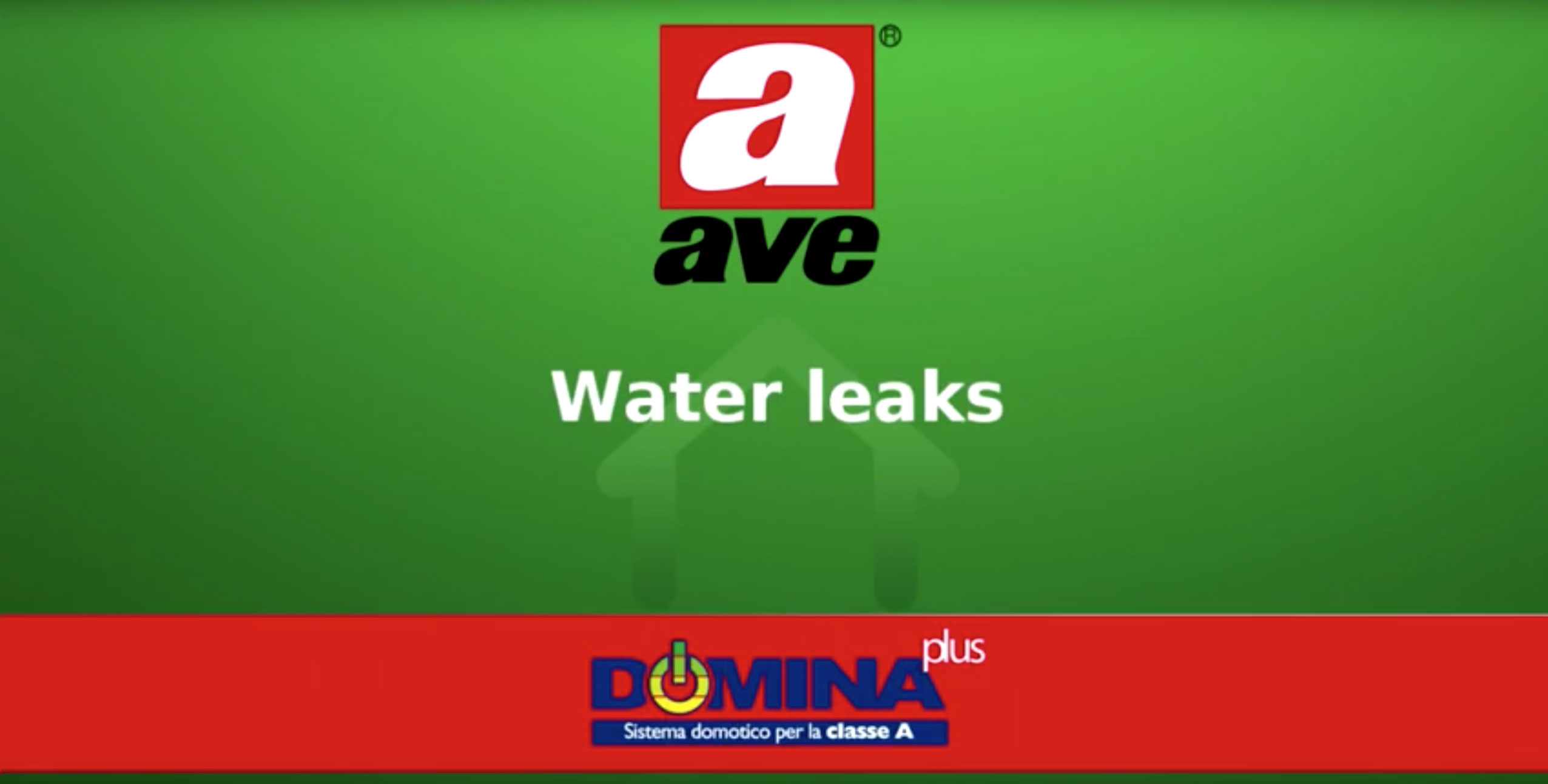 Home automation AVE DOMINA plus – Water leaks video