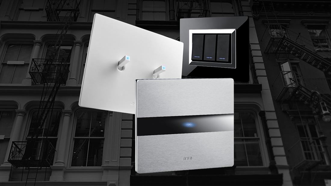 Design dell'impianto: interruttori AVE a levetta, touch e tradizionali