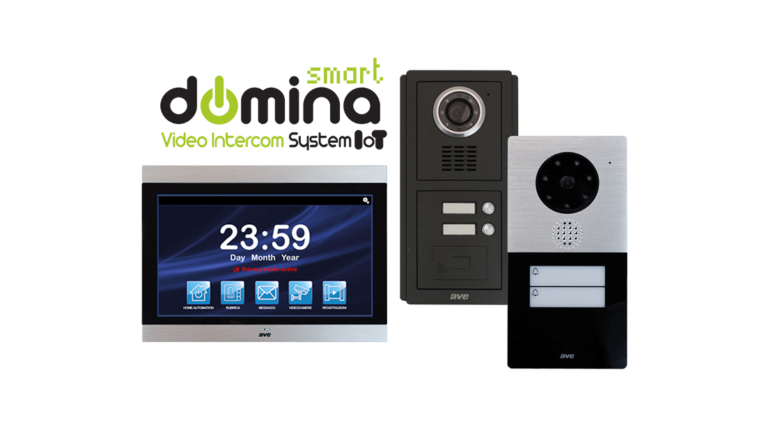 "Smart video intercom system, with interactive 10"" touch screen"
