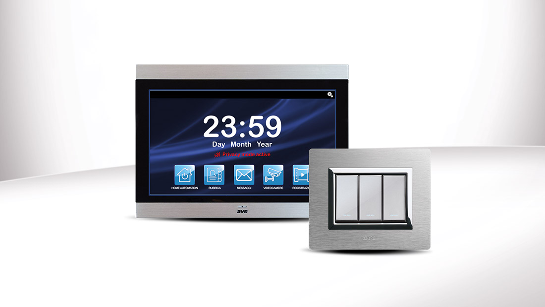 """AVE Viva-Voce: smart video intercom with 10"""" touch screen"""