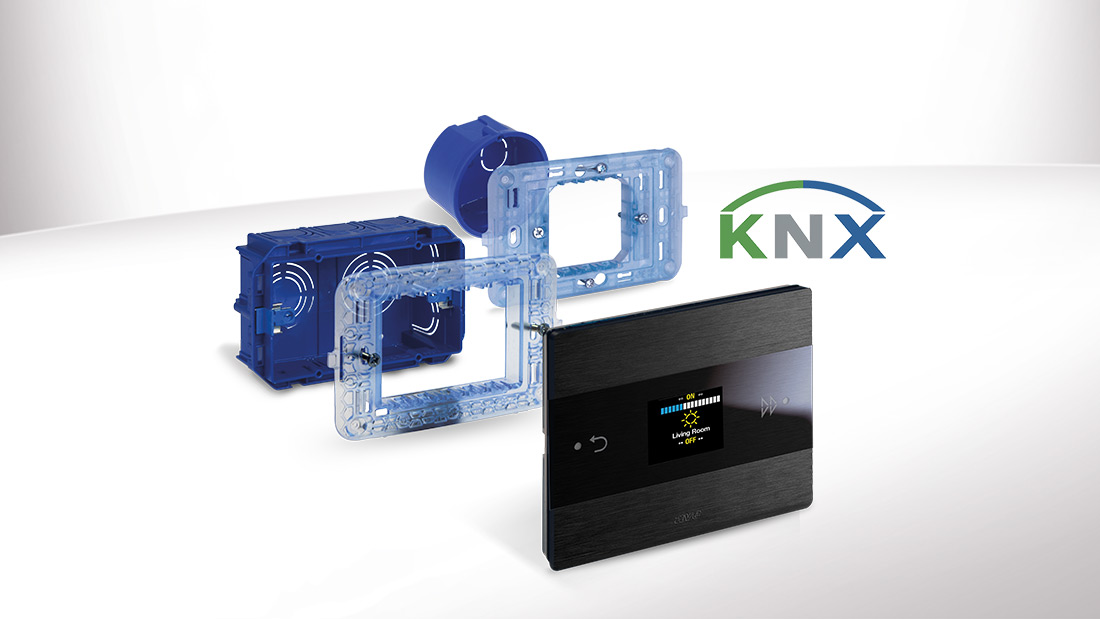 AVE Room Controller KNX con display OLED da 3.3""