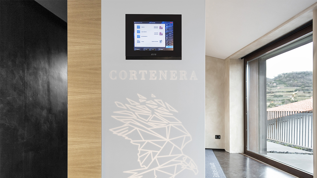 DOMINA Smart home automation in the Cortenera Winery